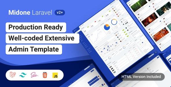 Midone 2.0.3 - HTML & Laravel Admin Dashboard Template