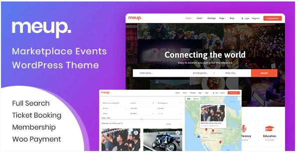 Meup - Marketplace Events WordPress Theme