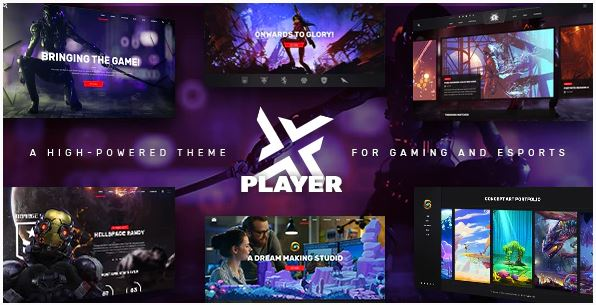 Download PlayerX - A High-powered Theme for Gaming and eSports Nulled