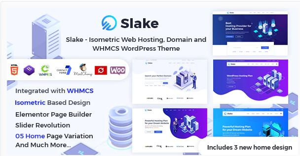 Web Hosting, Domain and WHMCS WordPress Theme