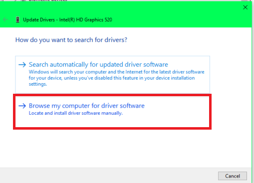 Browse Driver from computer