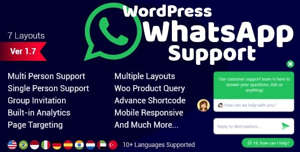 WordPress WhatsApp Support 2.0.6 Nulled