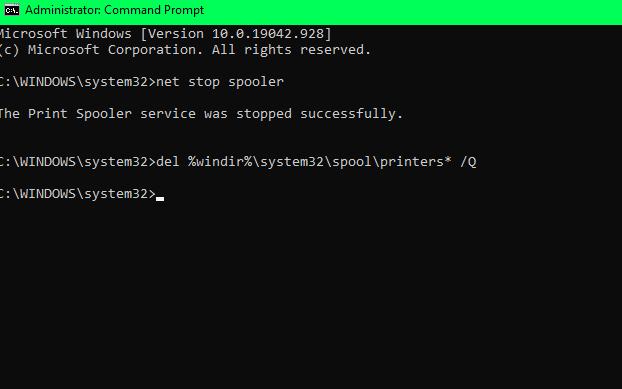 delete files from spooler folder